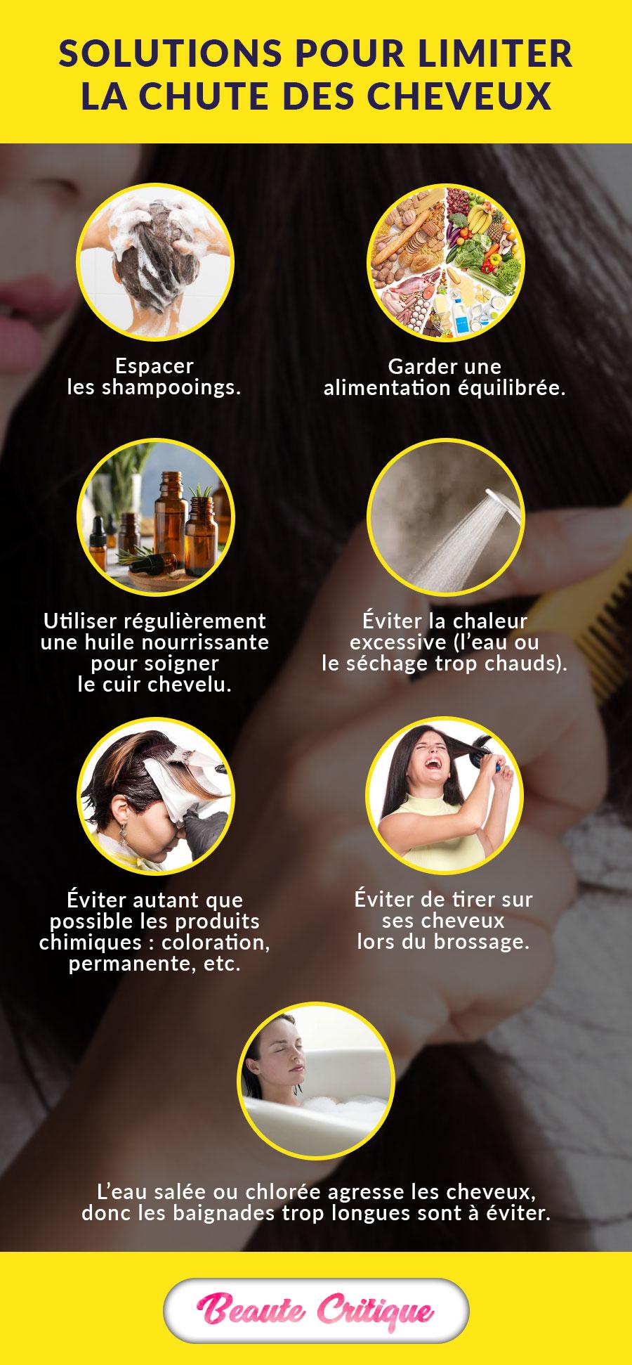 Comment limiter la chute des cheveux